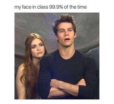 teen wolf, holland roden, and dylan o'brien image Funny School Memes, Crazy Funny Memes, Really Funny Memes, Stupid Memes, Funny Relatable Memes, Haha Funny, Funny Cute, Funny Jokes, Hilarious