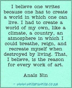 Quotable - Anaïs Nin - Writers Write Creative Blog