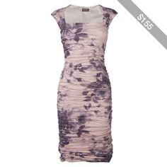 Phase Eight Chateau Print Dress, Charcoal
