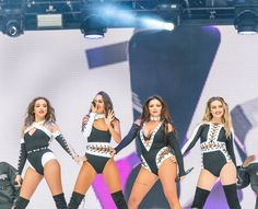 Little mix performing at Capital FM Summertime Ball 2016 in Wembley, London ~ June 2016 Jesy Nelson, Perrie Edwards, Little Mix Outfits, Little Mix Style, Little Mix 2016, Litte Mix, Stage Outfits, Wwe Outfits, Concert Outfits
