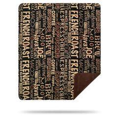 """Red Barrel Studio Hadlock Coffee Break Blanket Size: 60"""" W x 70"""" L"""