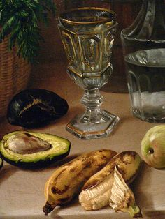 Still LIfe by Jose Agustin Arrieta Mexico 1870 we do not see avocado in period paintings