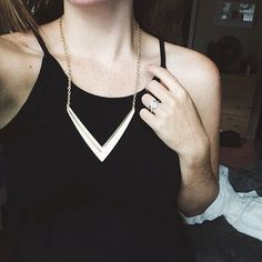 'v' necklace