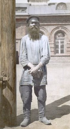 )- Another recolored image. I would add a vest, but I like the look of the pants overtop the boots, unlike in other research images. Fiddler On The Roof, Research Images, Russian Revolution, Imperial Russia, Soviet Union, Portrait Art, Vintage Photographs, Historical Photos, Old Photos