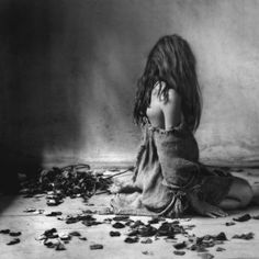 woman in deep sorrow