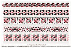 Semne Cusute: romanian traditional motifs - MOLDOVA - Iasi - sat: Valea Seaca Cross Stitch Borders, Cross Stitch Designs, Cross Stitch Patterns, Folk Embroidery, Embroidery Designs, Loom Beading, Beading Patterns, Wedding Album Design, Palestinian Embroidery