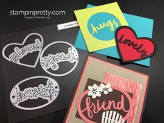 2017  VIDEO  Lovely Words Thinlits Dies & coordinating Lovely Inside & Out Stamp Set.