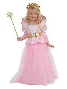 Girls Costumes - This Girls Sparkle Princess Costume includes the crown and the long pink princess gown with the attached collar with gold trim and the gold belt. Halloween Infantil, Halloween Costumes For Girls, Halloween Fancy Dress, Costume Halloween, Girl Costumes, Kid Halloween, Costume D'halloween Fille, Costume Dress, Pink Princess