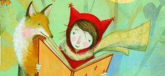 Beschwingt und voller Vorfreude macht sich das Mädchen auf den Heimweg. Dabei bemerkt es gar nicht, wie ein Fuchs all die schönen Wörter und Geschichten aus ihrem Buch klaut. Nachdem sie sich gestärkt und kurz mit ihrem Hund gespielt hat, kann das Mädchen seine Neugier nicht mehr zügeln und schlägt gespannt das Buch auf. Bei der letzten Seite angekommen, beginnt es zu weinen, fehlen doch all die Buchstaben und Wörter, die eine spannende Geschichte ausmachen.