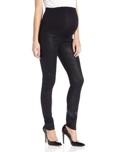 Paige Denim Womens Maternity Skinny Jean Black Coated 30 ** Find out more about the great product at the image link.Note:It is affiliate link to Amazon.
