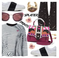 """""""Splatter Prints"""" by stacey-lynne ❤ liked on Polyvore featuring McQ by Alexander McQueen, Valentino, Pomegranate, Current/Elliott, Paula Cademartori, Vivienne Westwood and ALDO"""