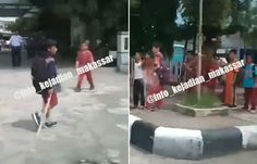 Inilah Video Tawuran Anak SD di Makassar Yang Hebohkan Netizen
