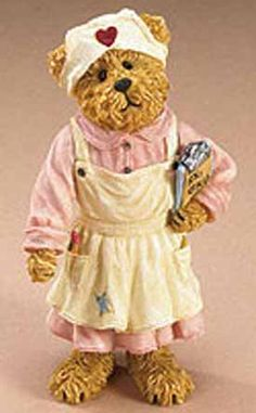 boyds bears figurines | 1st Edition Boyds The Shoe Box Bears Figurine Nurse Nancy ...
