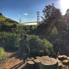 "Sometimes you forget how amazing your ""backyard"" is! Feel so lucky to call the #BayArea home! @bayareadiscoverymuseum #goldengatebridge #kids"