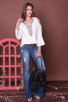 #debrummodas #coleção #calça #flare #bata #openshoulder #modafeminina #moda #fashion #style #estilo
