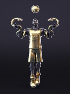Bigshot Toyworks put together this cool Kobe Bryant figure that shows the Black Mamba with snake skin, and gold accessories which include two golden snakes.