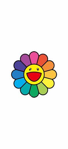 Graphic Wallpaper, Aesthetic Iphone Wallpaper, Photo Wallpaper, Flower Wallpaper, Aesthetic Wallpapers, Ballon Illustration, Flower Lockscreen, Murakami Flower, Dope Cartoon Art