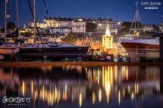 Today I overheard a disembarking American cruise ship passenger say as he stepped on to the landing pontoon 'what an adorable city'. You know I'm quite happy to live with that description of our little ol' town! #Guernsey #GreatThings #SafeHaven  Link to the whole collection of 'Georgie's Guernsey' :-http://chrisgeorge.dphoto.com/#/album/4daaes  Picture Ref: 08_07_16 — in St. Peter Port, Guernsey, Channel Islands.