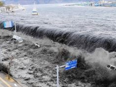 tsunami waves that rolled in minutes after Friday's 9.0 magnitude