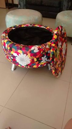 Tire Furniture, Repurposed Furniture, Tire Craft, Diy Ottoman, Marriage Decoration, Tyres Recycle, Homemade Furniture, Hobbies And Crafts, Interior Design Kitchen