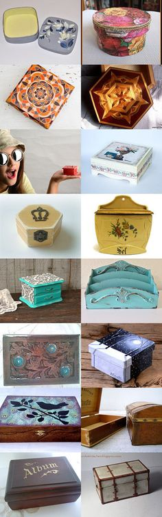 Boxes II in treasury from Jelena DizArtEx on Etsy--Pinned with TreasuryPin.com #box #brown #wooden #decor #design #gifts