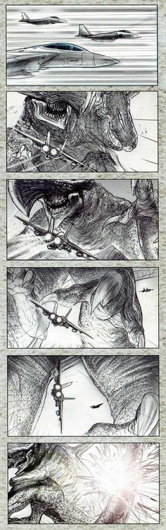 Absolutely phenomenal storyboard art for Pacific Rim, which I STILL NEED TO SEE!