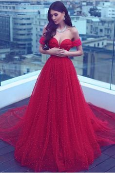 Off the shoulder prom dress, ball gowns wedding dress