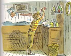 Ginger, drawn by Edward Ardizzone.  Love his illustration style