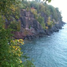 Lake Superior cliffs, west of Marquette, Michigan.  September 2012