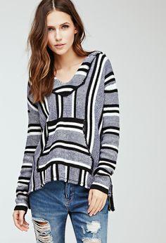 Striped Baja Hoodie | Forever 21 - 2000096923