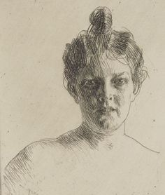 [Mme Runeberg] : [estampe] ([2e état]) / Anders Zorn / 1900