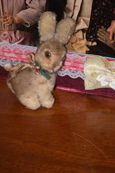 Old Doll Toy Mohair Rabbit Jointed Neck Display Bunny Steiff - Old Doll Toy Mohair Rabbit Jointed Neck Display Bunny Steiff