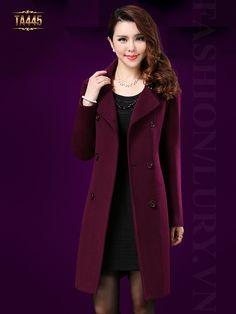 Kiểu áo dạ nữ cao cấp 3 khuy trước thời trang mang lại cảm giác ấm áo cho quý cô TA445