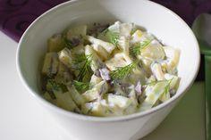 zucchini salad with dill, onion, yogurt, garlic, lemon juice, salt and pepper