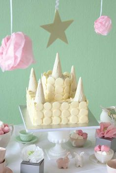 This castle cake is what a princess' dreams are made of.