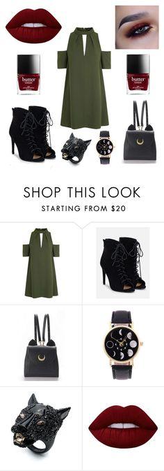 """""""🎠🎠"""" by ruby-eliza-lewis ❤ liked on Polyvore featuring Topshop, JustFab, Alexis Bittar and Lime Crime"""