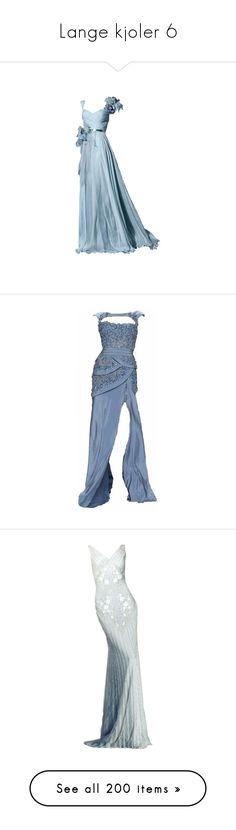 """Lange kjoler 6"" by sissesofiemark ❤ liked on Polyvore featuring dresses, gowns, long dresses, vestidos, evening gown, vestido, blue evening dresses, blue ball gown, blue evening gown and long blue dress"