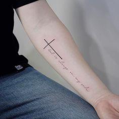 4,401 отметок «Нравится», 17 комментариев — Tattooist_Doy (@tattooist_doy) в Instagram: «: Cross and script lettering . #tattoo #tattoos #tattooing #art #tattooistdoy #inkedwall #design…»