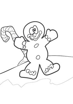 Free Online Gingerbread Man Colouring Page - Kids Activity Sheets: Christmas Colouring Pages