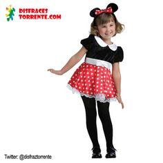 $13.50 €uros. Disfraz de ratoncita Minie. Precioso disfraz para niñas ideal para festivales de fin de curso, carnavales, fiestas de cumpleaños. Sin duda es uno de sus disfraces preferidos.