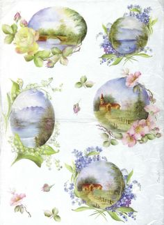 Craft Rice, Silk Paper, Napkin for Classic DECOUPAGE,  Landscapes