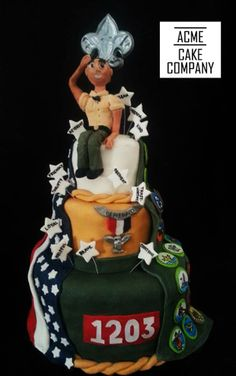 """Eagle Scout """"Court of Honor"""" Cake by Acme Cake Company in San Diego  https://www.facebook.com/AcmeCakeCompany"""