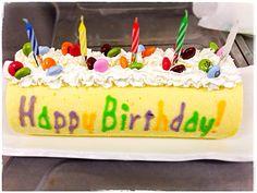 すみのふ's dish photo バースデーデコロール | http://snapdish.co #SnapDish #お誕生日 #ケーキ