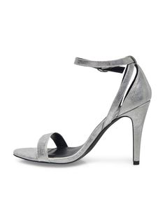 HEELED SANDALS, Silver
