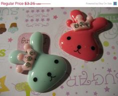 Summers End Sale 3 Large Bunny with Rhinestone by LunasSecrets, $2.60