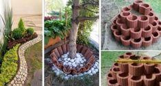 16 idee irresistibili per creare bordure delle aiuole fai-da-te usando tegole, mattoni e non solo - Creativo.media Bologna, Stepping Stones, Hobbies, Shabby Chic, Outdoor Decor, Plants, Ideas, Home Decor, Garden