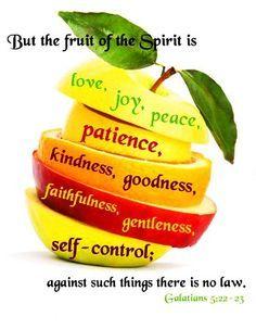 Galatians 5:22-23 ~ Fruit of the Spirit | Those adorable kids & frien…