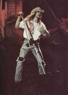 Axl Rose of Guns N' Roses, late '80s