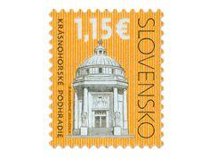 COLLECTORZPEDIA: Slovakia Stamps Cultural Heritage of Slovakia Krásnohorské Podhradie - Andrassy Mausoleum