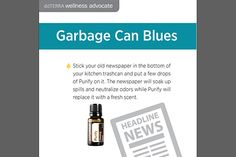 doTerra Social Media - Essential Tip - Garbage Can Blues